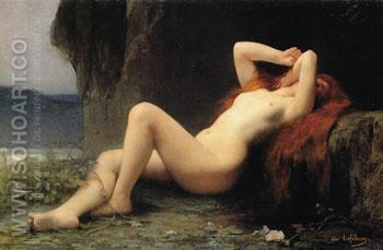Mary Magdalen in the Grotto - Jules Joseph Lefebvre reproduction oil painting