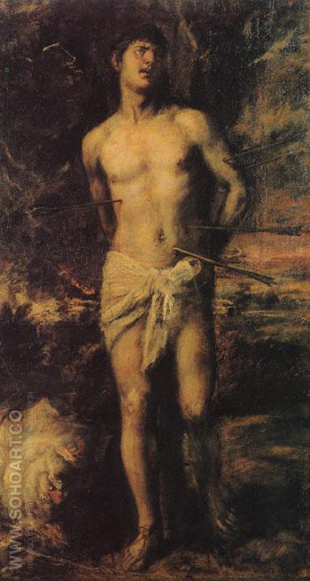St Sebastian c1570 - Titian reproduction oil painting