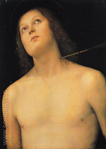 St Sebastian c1495 - Perugino reproduction oil painting