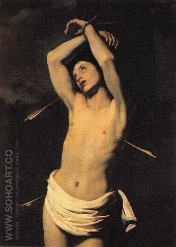 St Sebastian 1610 - Nicolas Regnier reproduction oil painting