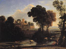Italian Landscape - Claude Gellee reproduction oil painting
