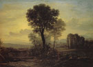 Morning 1666 - Claude Gellee reproduction oil painting