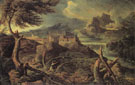 Landscape with Lightning 1665 - Gaspard Poussin