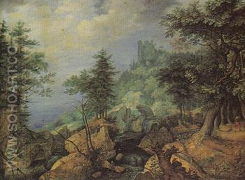 Tyrolean Landscape 1606 - Roelandt Savery reproduction oil painting