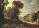 Mountain Landscape 1626 - Paul Brill reproduction oil painting