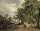 View of a Park 1835 - Barend Cornelis Koekkoek reproduction oil painting