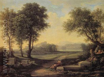 An Ideal Landscape 1810 - Johann Christian Reinhart reproduction oil painting