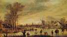 A River in Winter - Aert va der Neer