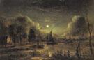 Moonlit River - Aert va der Neer