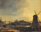 Landscape with a Mill - Aert va der Neer