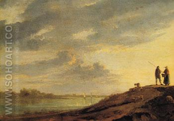 River Sunset - Aelbert Cuyp reproduction oil painting