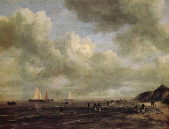 Coastline 1660 - Jacob Isaacksz van Ruisdael reproduction oil painting
