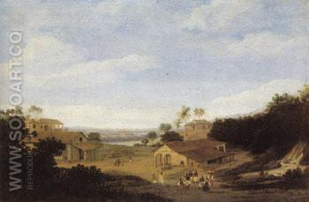 Sugar Plantation Brazil 1659 - Frans Post reproduction oil painting