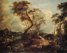 Landscape c1790 - Francesco Guardi reproduction oil painting
