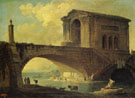 Landscape with Stone Bridge 1766 - Hubert Robert