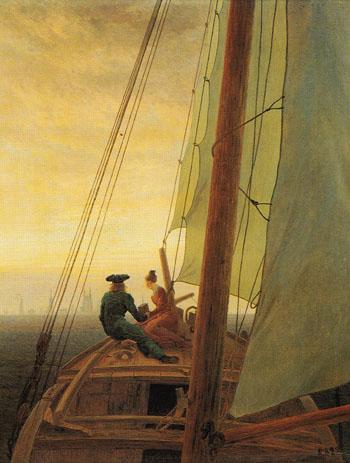 On a Sailing Ship - Caspar David Friedrich reproduction oil painting