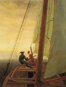 On a Sailing Ship - Caspar David Friedrich