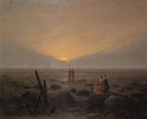 Moon Rising over the Sea 1821 - Caspar David Friedrich
