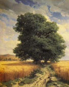 Landscape with Oak Tree 1859 - Alexander Calame