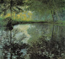 Pond at Montgeron 1876 - Claude Monet reproduction oil painting