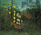 Tropical Forest Battling Tiger and Bull 1908 - Henri Rousseau