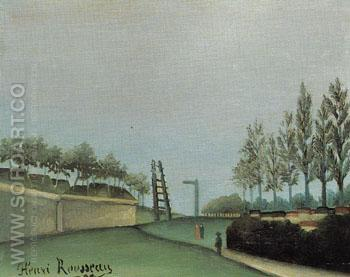 Fortification Porte de Vanves Paris 1909 - Henri Rousseau reproduction oil painting
