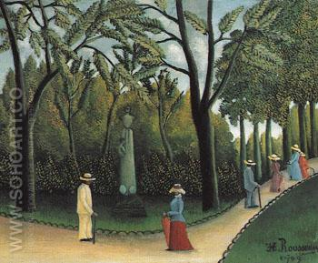 Luxembourg Gardens Chopin Monument 1909 - Henri Rousseau reproduction oil painting