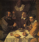Three Men at a Table c1617 - Diego Velasquez