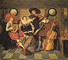 Musicale 1623 - Dirck Hals reproduction oil painting