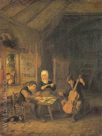 Village Musicians 1645 - Adriaen van Ostade reproduction oil painting
