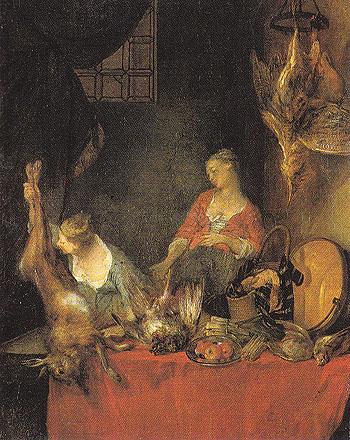 The Kitchen - Nicolas Lancret reproduction oil painting