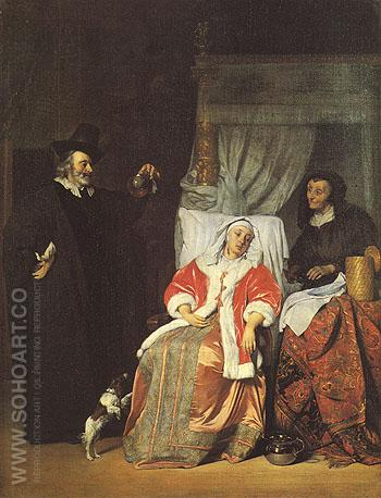 The Doctors Visit 1600 - Gabriel Metsu reproduction oil painting