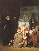 The Doctors Visit 1600 - Gabriel Metsu