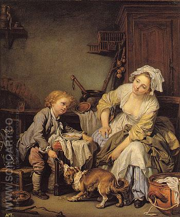 The Spoiled Child 1765 - Jean Baptiste Greuze reproduction oil painting