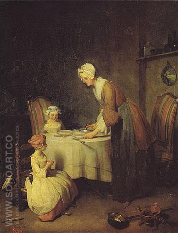Grace Before a Meal 1744 - Jean Simeon Chardin reproduction oil painting
