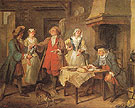 The Marriage Contract c1738 - Nicolas Lancret reproduction oil painting