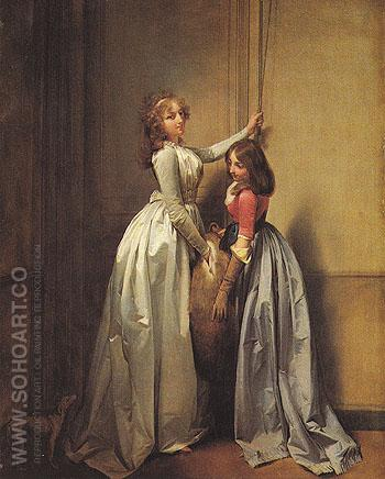 In the Entrance c1796 - Louis Boilly reproduction oil painting