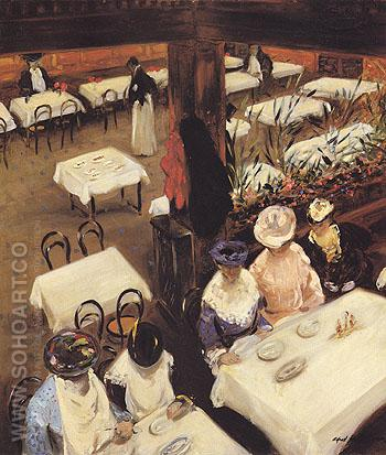 In a Cafe 1905 - Alfred Henry Maurer reproduction oil painting