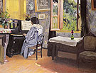 Woman at the Piano Madame Vallotton - Felix Vallotton
