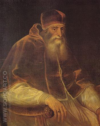 Pope Paul III 1548 - Titian reproduction oil painting