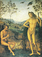 Apollo and Marsyas - Perugino