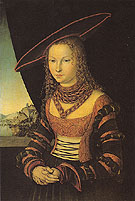 Portrait of a Lady 1526 - Lucas Cranach reproduction oil painting