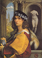 Portrait of a Gentleman 1512 - Domenico Capriolo reproduction oil painting