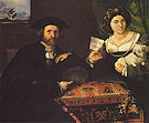 Husband and Wife c1543 - Lorenzo Lotto reproduction oil painting
