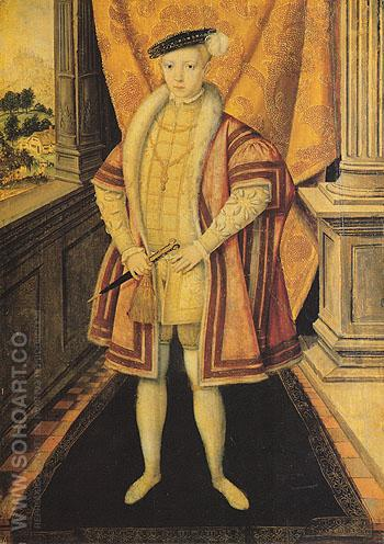 Edward VI 1547 - Hans Eworth reproduction oil painting