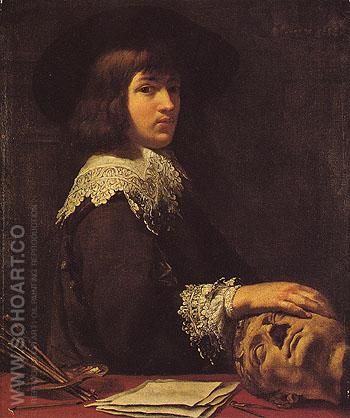 Self Portrait 1636 - Jean Daret reproduction oil painting