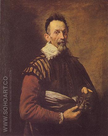 An Actor 1620 - Domenico Fetti reproduction oil painting