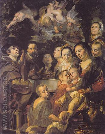 Brother and Sisters c1615 - Jacob Jardaens reproduction oil painting