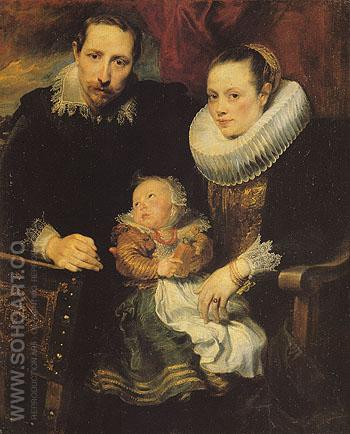 Family Portrait 1621 - Van Dyck reproduction oil painting