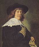 A Young Man with a Glove c1650 - Frans Hals reproduction oil painting